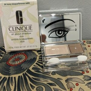 Clinique All About Shadow Ivory Bisque&Bronze NWT